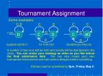 tournament assignment2