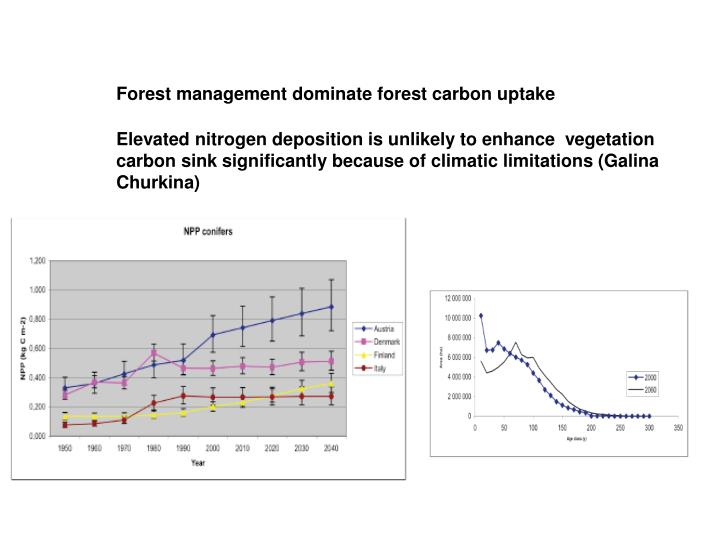 Forest management dominate forest carbon uptake