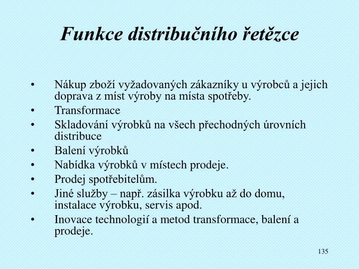 Funkce distribučního řetězce