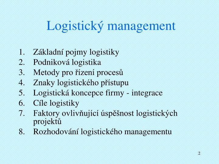 Logistický management