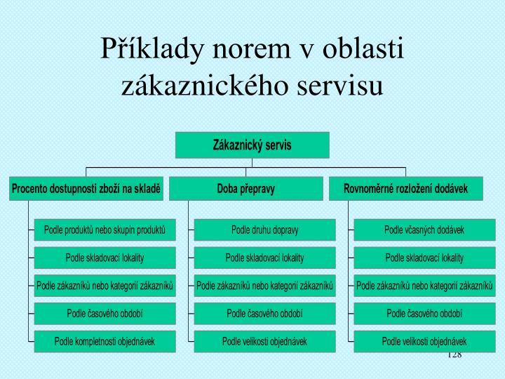 Příklady norem v oblasti zákaznického servisu