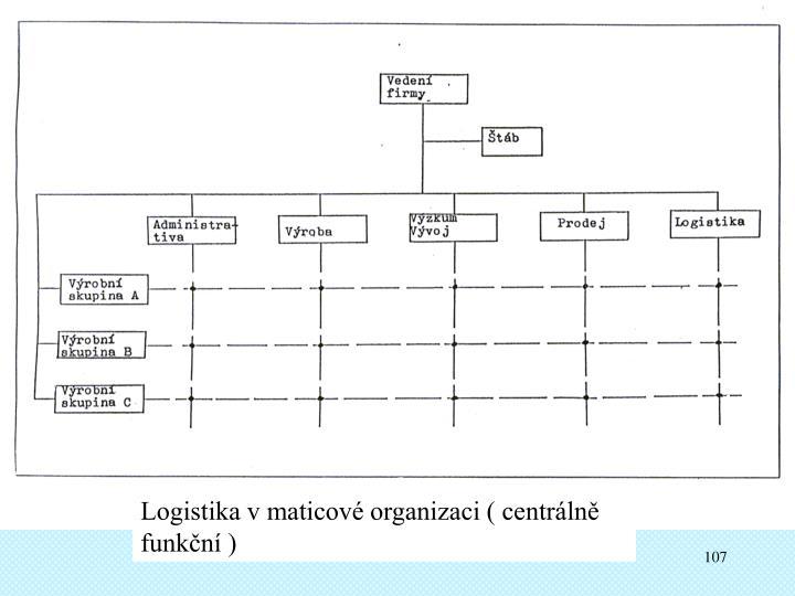 Logistika v maticové organizaci ( centrálně funkční )