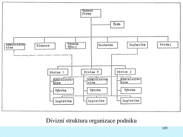 Divizní struktura organizace podniku