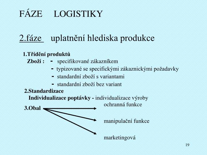 FÁZE     LOGISTIKY