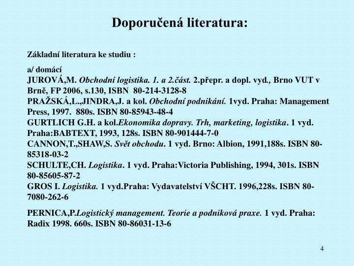 Doporučená literatura: