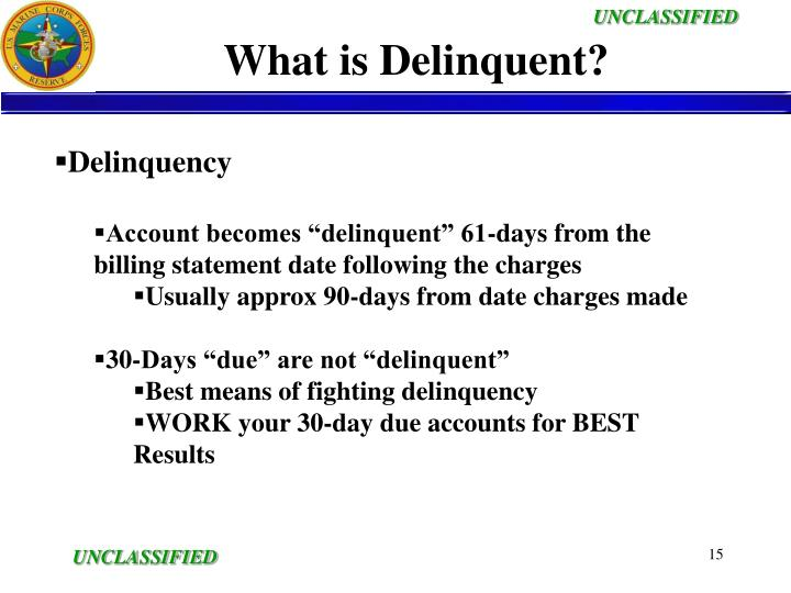 What is Delinquent?