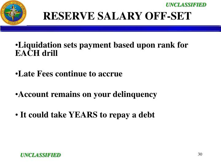 RESERVE SALARY OFF-SET