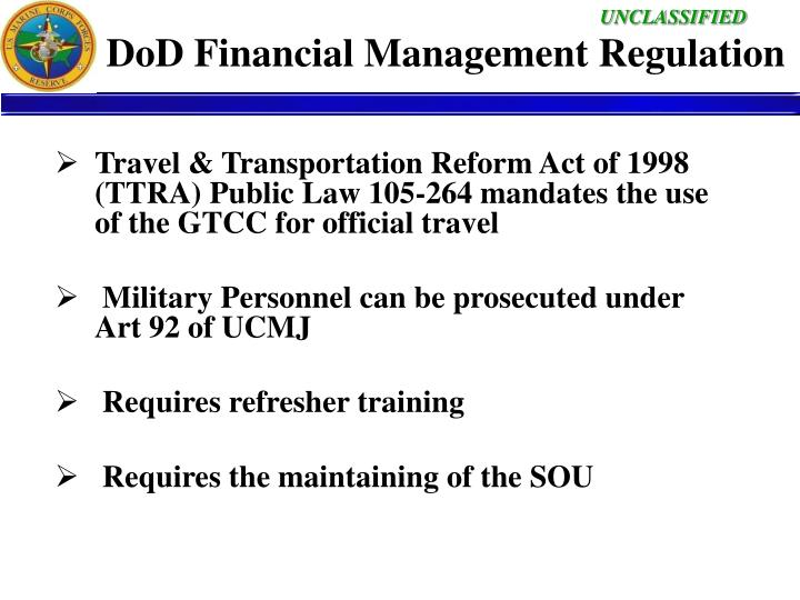 DoD Financial Management Regulation