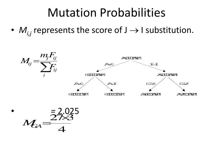 Mutation Probabilities