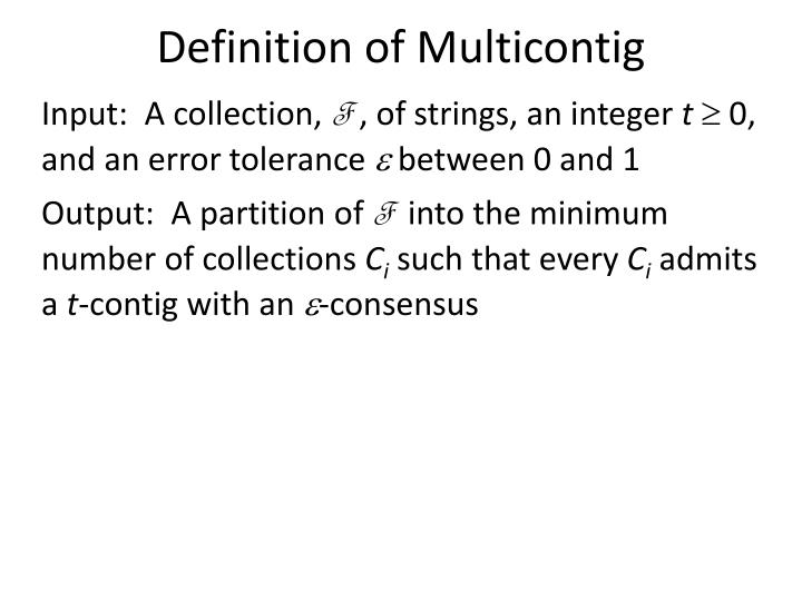 Definition of Multicontig