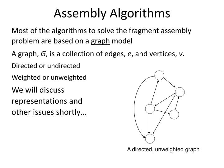 Assembly Algorithms