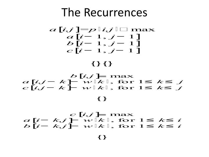 The Recurrences