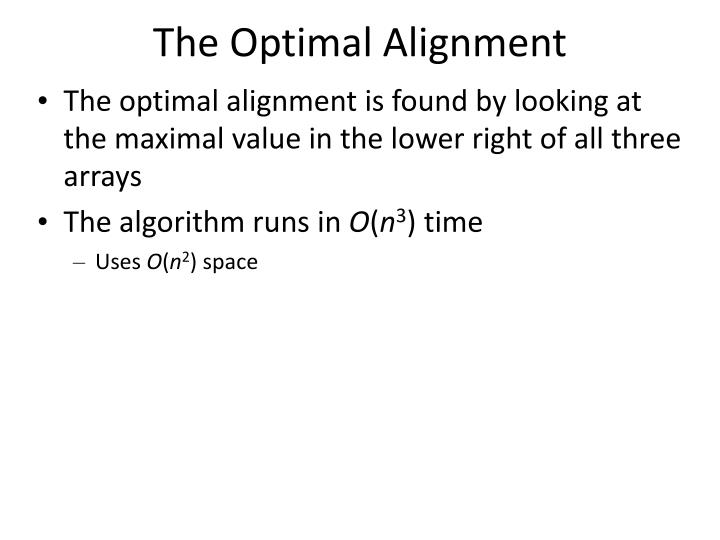 The Optimal Alignment