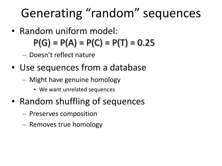 "Generating ""random"" sequences"