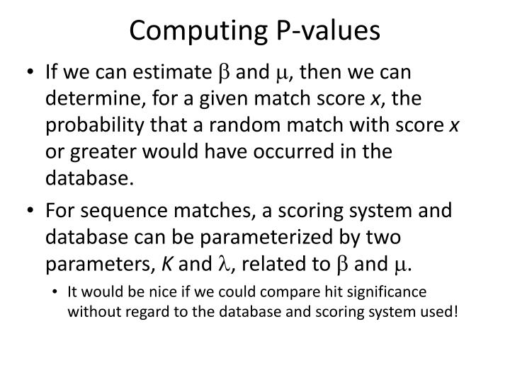 Computing P-values