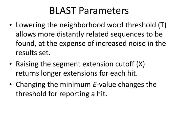 BLAST Parameters