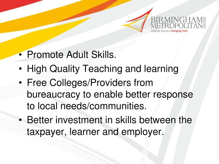 Promote Adult Skills.