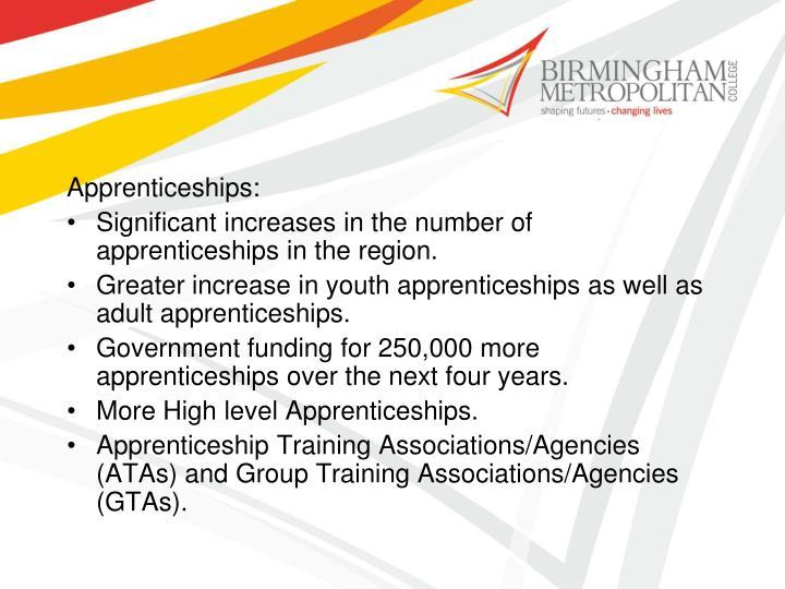 Apprenticeships:
