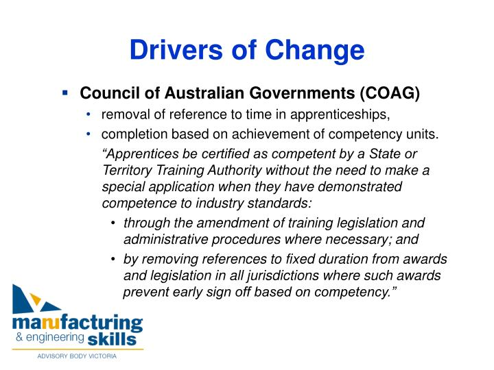 Council of Australian Governments (COAG)