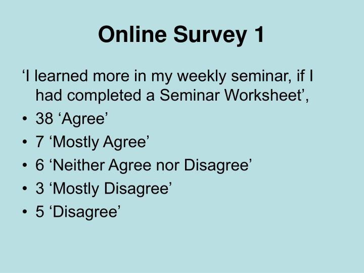 Online Survey 1