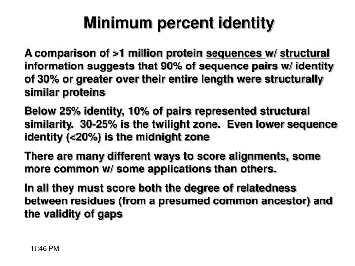 A comparison of >1 million protein