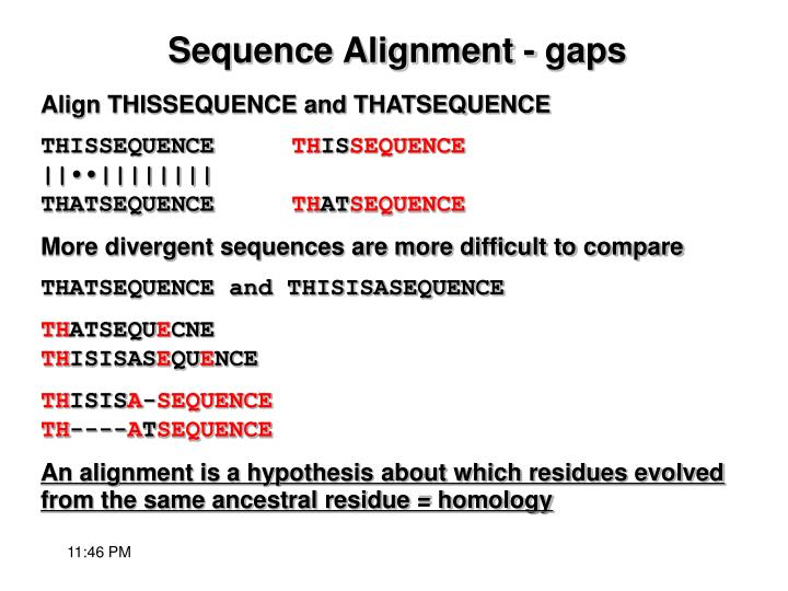 Align THISSEQUENCE and THATSEQUENCE