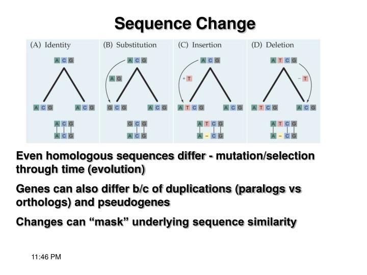 Sequence change
