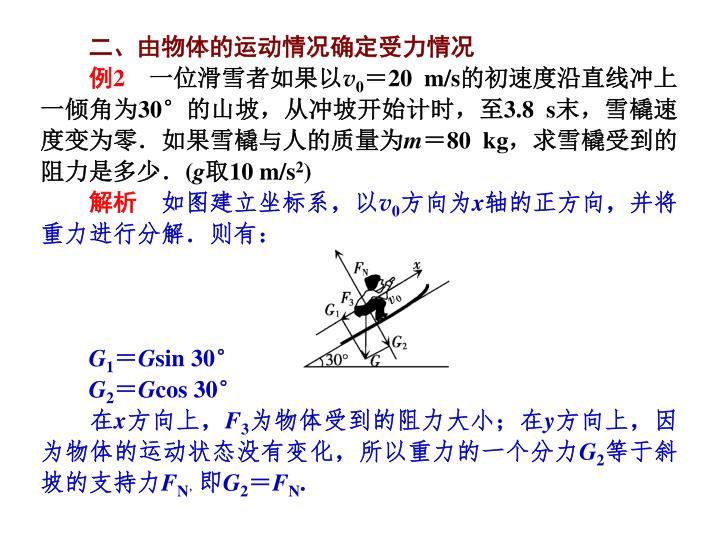 二、由物体的运动情况确定受力情况