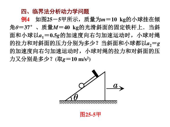 四、临界法分析动力学问题