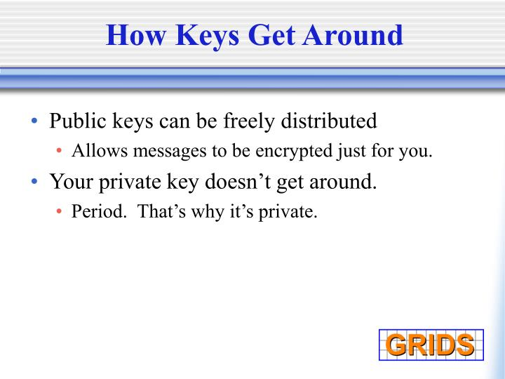 How Keys Get Around