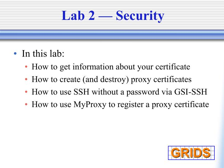 Lab 2 — Security