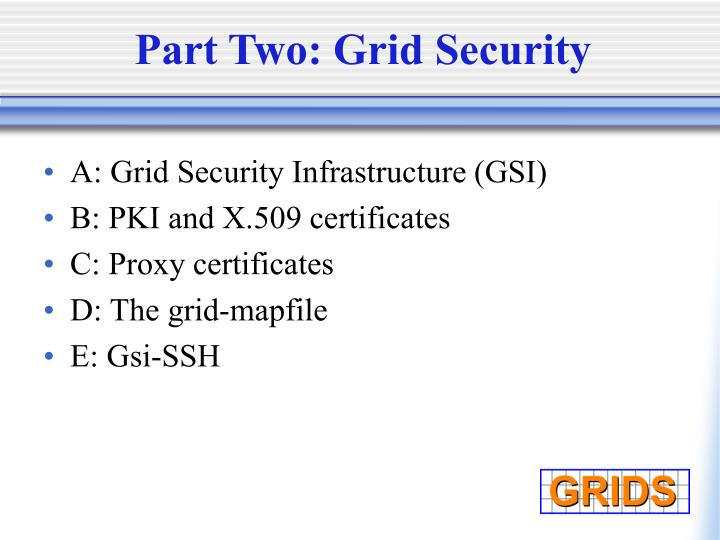 Part two grid security