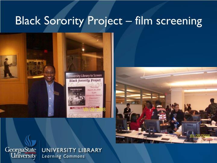 Black Sorority Project – film screening