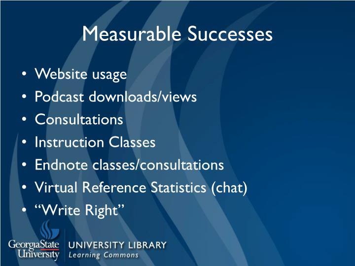 Measurable Successes