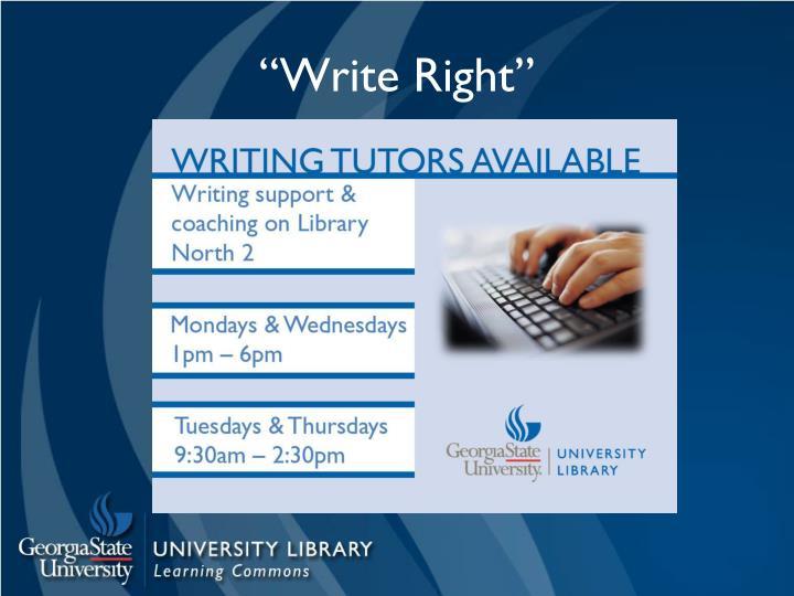 """""""Write Right"""""""