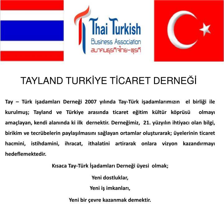 TAYLAND TURK