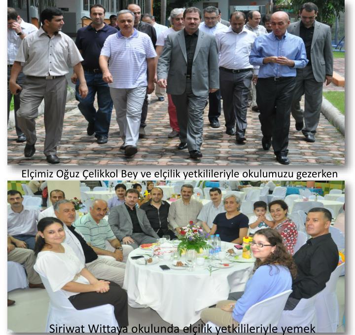 Elçimiz Oğuz Çelikkol Bey ve elçilik yetkilileriyle okulumuzu gezerken