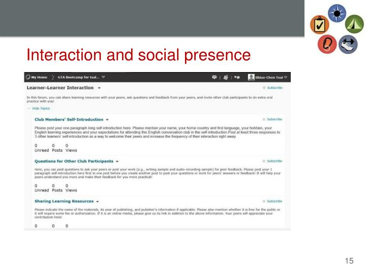 Interaction and social presence