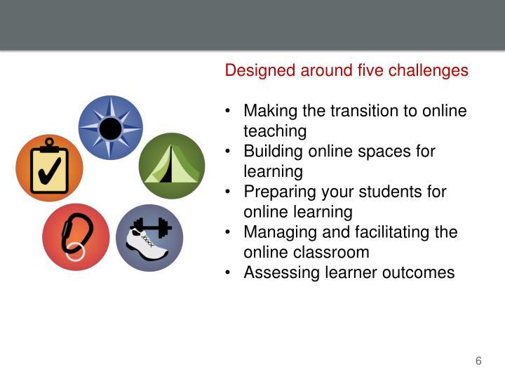 Designed around five challenges