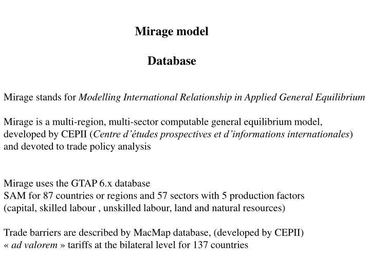 Mirage model