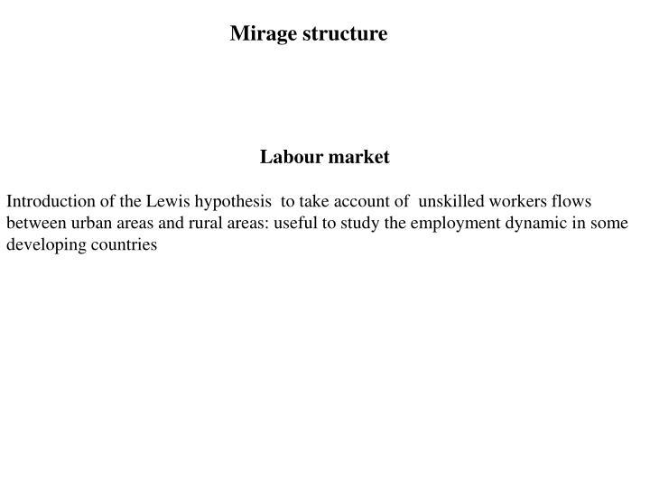 Mirage structure