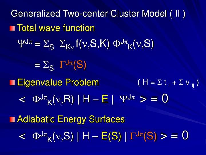 Generalized Two-center Cluster Model ( II )