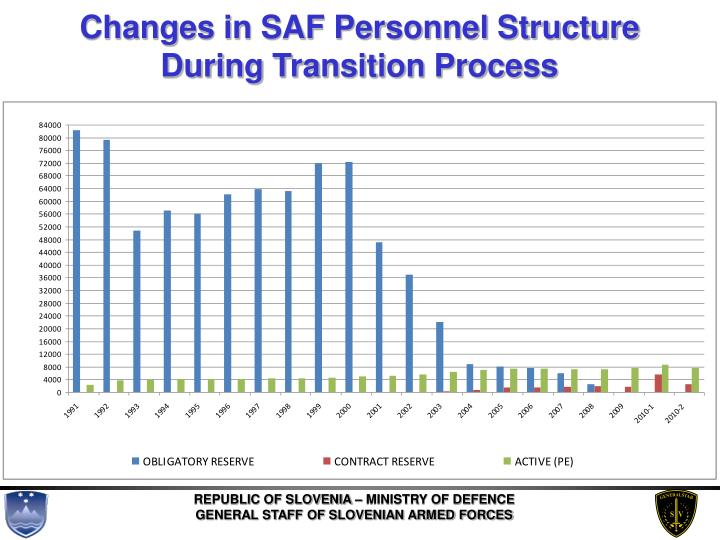 Changes in SAF Personnel Structure During Transition Process