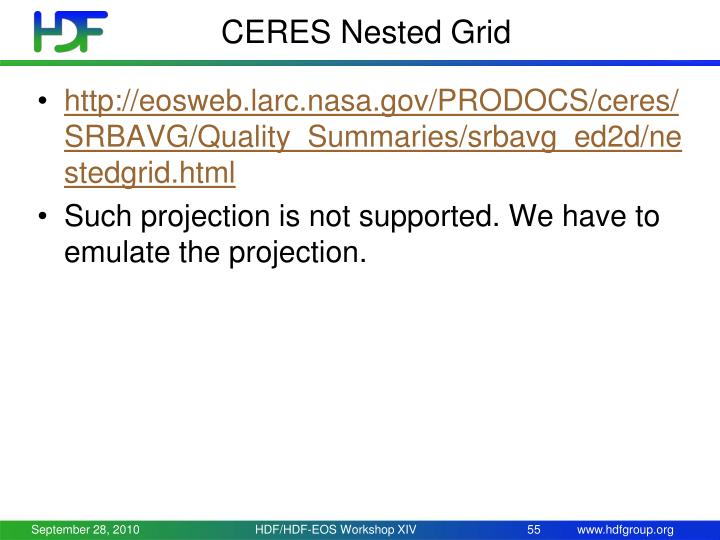 CERES Nested Grid