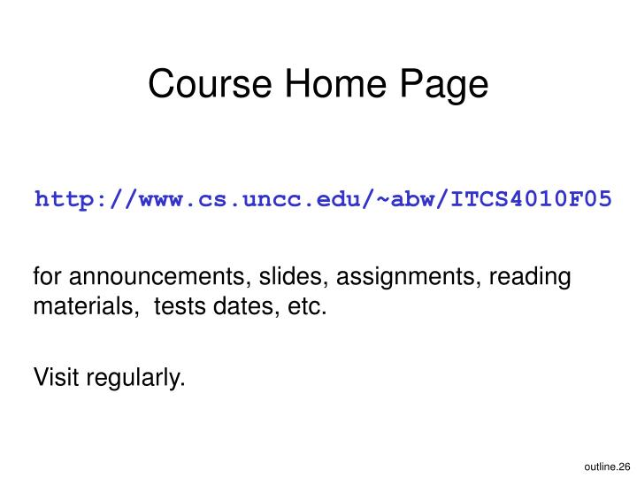 Course Home Page
