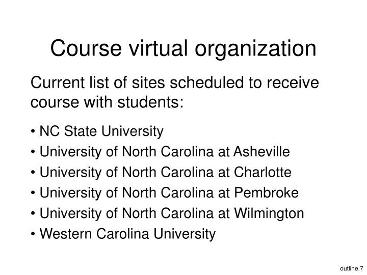 Course virtual organization