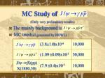 mc study of1