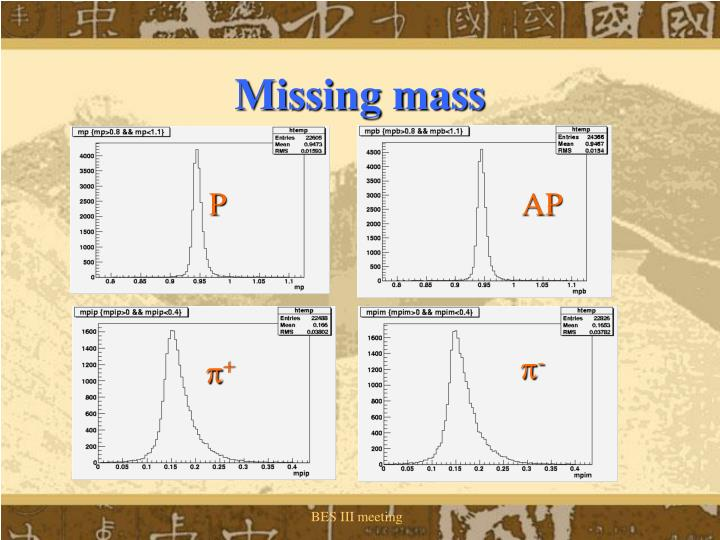 Missing mass