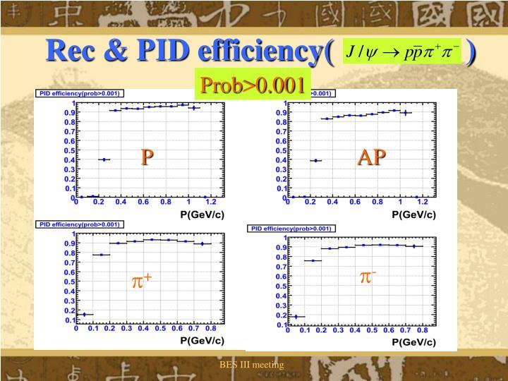 Rec & PID efficiency(                 )