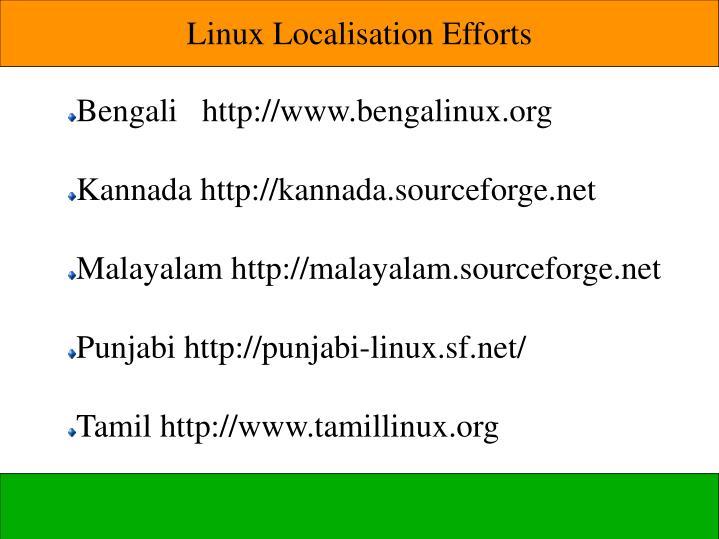 Linux Localisation Efforts